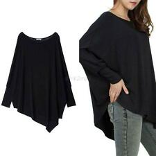 Women Batwing Dolman Sleeve Casual Loose Blouse Tops T-shirt Plus Size Tee