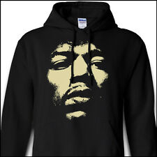 JIMI HENDRIX Experience Band Of Gypsys Electric Guitar Face Black Hoodie