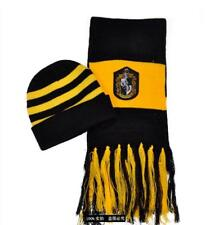 Harry Potter Stripes Knit Beanie Hat Cap and Scarf Deathly Hallows Costume