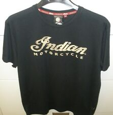 Men's Indian Motorcycle S/S Logo Tee - Black with Ecru Logo  *NWT*