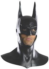 Rubies Costume Men's Arkham City Deluxe Batman Cowl Mask Black One Size