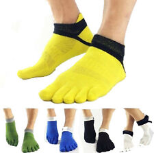 1 Pairs Breathable Men's Cotton Toe Socks Pure Sports Five Finger Socks LIAU
