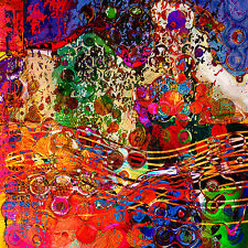 Canvas Print Abstract Modern Multimedia Digital Contemporary Artwork
