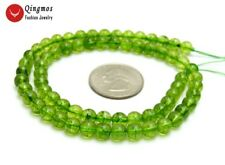 "SALE 6mm Rondelle Natural Green authentic Peridot Gemstone Loose Beads 15"" -l656"