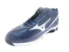 Mizuno 9-Spike Classic G6 Mid Switch Mens Navy/White Baseball Cleat