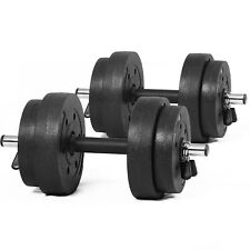 Weights Set 20kg Cast Iron Dumbbells Weight Lifting Plates Home Workout Training