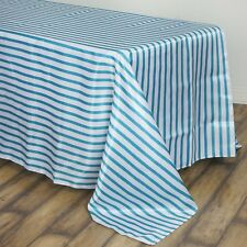 90x132 in. Satin Rectangle Striped Seamless Tablecloth Wedding/Party/Banquet