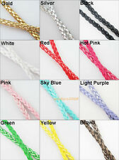 1 New Cords 12Colors PU Leather Twist Braided Thread DIY Bracelet Necklace 2m