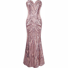 Long Women's Sequins Evening Prom Cocktail Gowns Formal Bridesmaid Pageant Dress