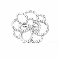 Women's Cubic Zirconia AAA 925K Sterling Silver Flower Gorgeous Ring Size 6-8