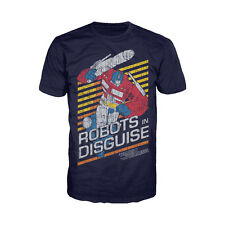 Transformers Prime Robots In Disguise Official Men's T-shirt (Navy) Hasbro