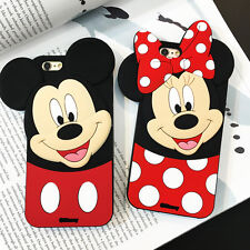 3D Cartoon Minnie Mouse Soft Silicone Case Cover Back Skin For Various Phone