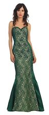 Sweetheart Neckline Long Mermaid Style Lace Strapless Prom Dresses