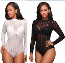 Women Bodysuit Long Sleeves V Neckline ChicTapestry Print Belted Jumpsuit