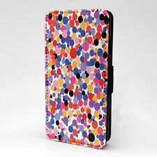 Polka Dots Print Design Pattern Flip Case Cover For Apple iPhone - P322