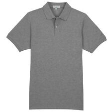 Lyle and Scott Mens Cool Grey Basic 100% Cotton Pique Polo