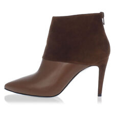 PIERRE HARDY New woman Brown Leather Ankle Boots Suede Made in Italy NWT