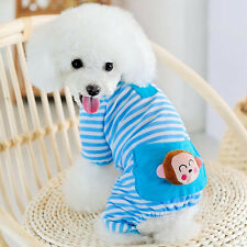 Small Pet Dog Stripes Pajamas Jumpsuits Cute Cat Puppy Clothes Apparel Clothing