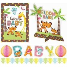 Jungle Animals of the Rainforest Fisher Price Amscan Baby Shower Decorations NEW