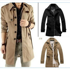 2017 korean style! HOT Mens Fashion Slim Fit Casual Trench coat jacket M-5XL