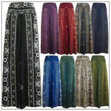 New Ladies Wide Leg Pants Palazzo Lagenlook Bohemian Gypsy Hippie Trousers Wrap