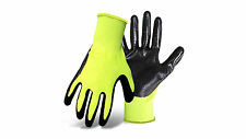 SAFETY WORK GLOVES 12 Pairs: Hi-vis Nitrile General Purpose (M & L) Free Post