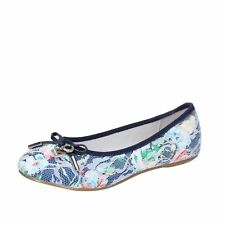 AG242 ENRICO COVERI  shoes blue textile girl ballet flats EU 26,EU 27,EU 29,EU 3