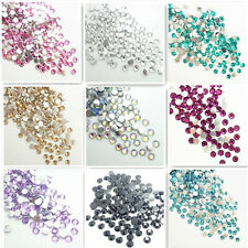 1000pcs Nail Art Flatback 14 Facets Resin Round Rhinestone Beads 4mm
