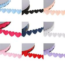 20yards Polyester Heart Ribbon Garlands Embellishments Lace Trims For Wedding