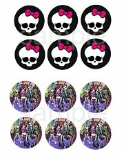 Monster High Edible Party Cake Image Cupcake Topper Frosting Icing Sheet