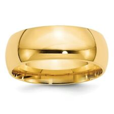 Solid 14k Yellow Gold Comfort Fit Wedding Band Ring Mens Womens Sizes 4 to 14