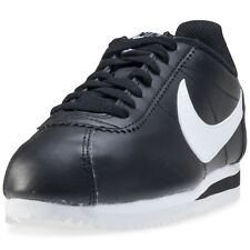 Nike Classic Cortez Womens Trainers Black White New Shoes