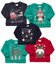 Baby Jumper Santa Xmas Pudding Christmas Rudolph Sweater Kids 6 to 24 Months