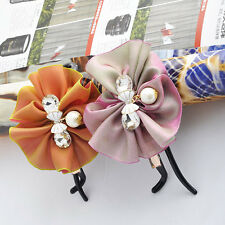 Crystal Womens hair head Clips Bow Wrap Accessories Cute Flower Hairpin Clamp