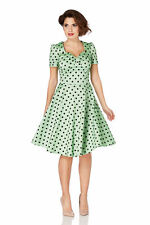 VOODOO VIXEN DRESS 'HANNA' Polka Dot Rockabilly PIN UP S,M,L Rockabilly
