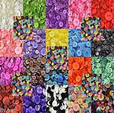 ASSORTED PLASTIC BUTTONS - CHOOSE FROM 20 COLOURS - MOSTLY SMALL MIXED BUTTONS