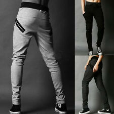 Mens Casual Baggy Jogger Dance Sports Sweat Pants Harem Trousers Slacks Bottoms