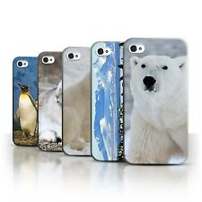 STUFF4 Back Case/Cover/Skin for Apple iPhone 4/4S/Arctic Animals