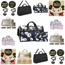 LeSportsac Large Weekender Bag + Cosmetic Bag, Disney, Snoopy, NWT Free Ship