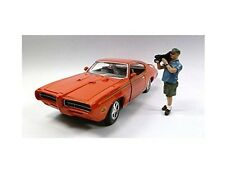 Camera Man Norman Figurine For 1:24 Scale Diecast Car Models by American Diorama