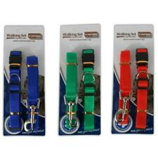 Dog Collar and Lead Set - Clip Pet Puppy Gift Present Pet Care Small Medium Dogs