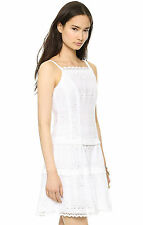 NWT $328 Nanette Lepore Wind Swept Eyelet Cotton Dress White 4