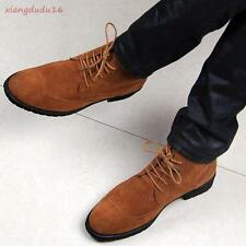 Oxford Mens Stylish Faux Suede Chunky heels Lace-up Dress formal Ankle Boots