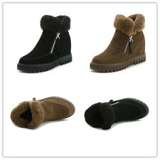 Winter Women's Snow Boots Suede Leather Shoes Wool Warm Moccasins Casual Oxfords