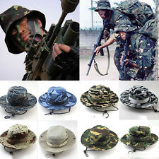 Hot Bucket Hat Boonie Hunting Fishing Outdoor Cap Wide Brim Military Sun Camo