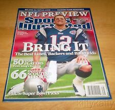 SPORTS ILLUSTRATED NO LABEL STORE BOUGHT 2008 TOM BRADY NEW ENGLAND PATRIOTS