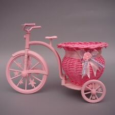 Wicker Basket Flower Vase Flowerpots Containers Home Decor Rattan Tricycle Bike