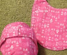 Fitted Diaper and Infant Bib Set
