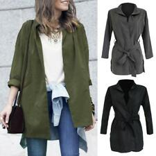Women Fashion Long Jackets Evening Party Trench Coat Autumn Outwears Wind Coat