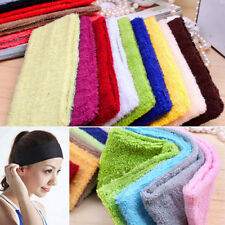 Sweatband Terry Cloth Cotton Headbands Yoga/Gym/Workout Sport Sweatbands Supply